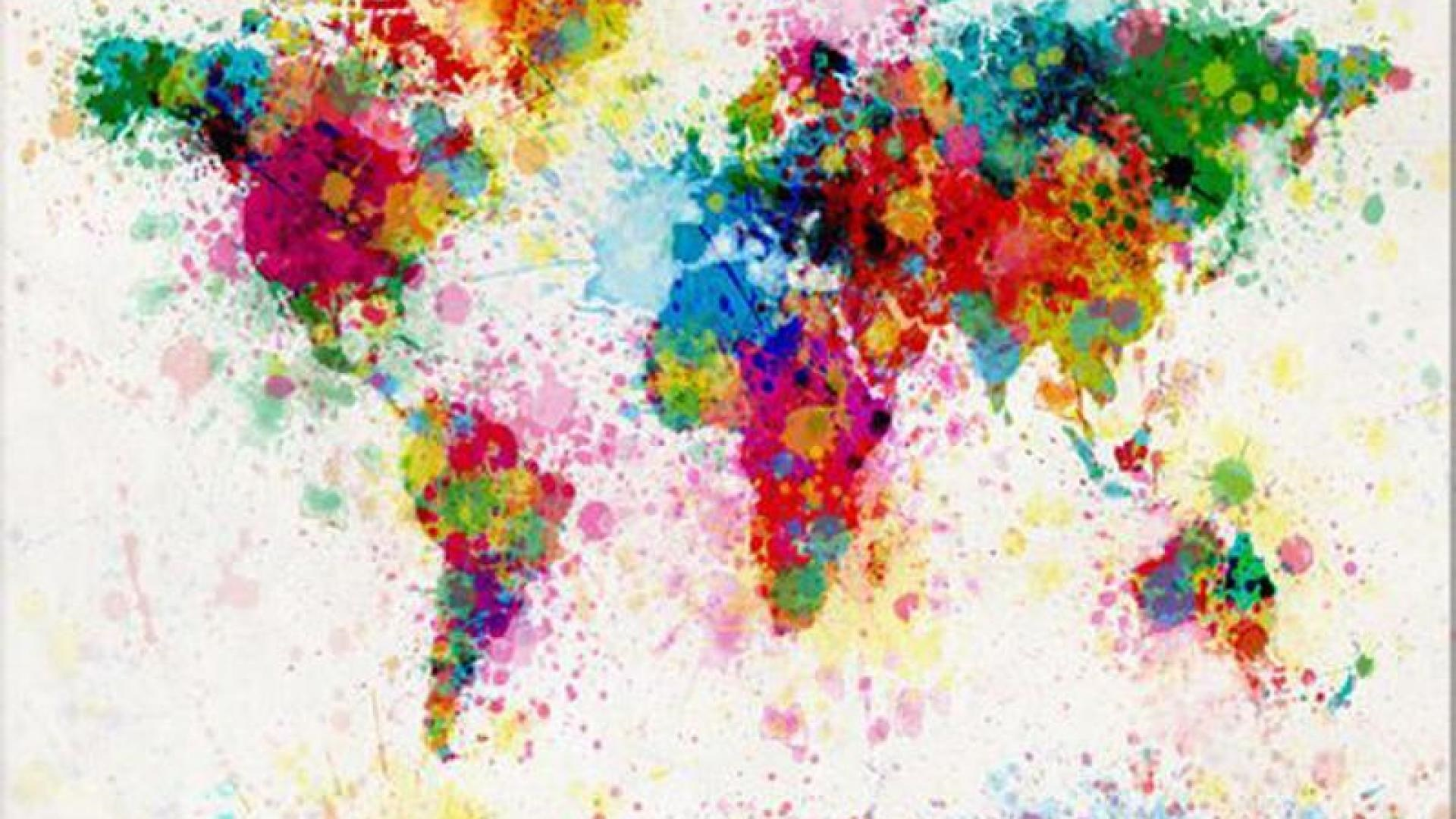 Colorful World Map wallpaper