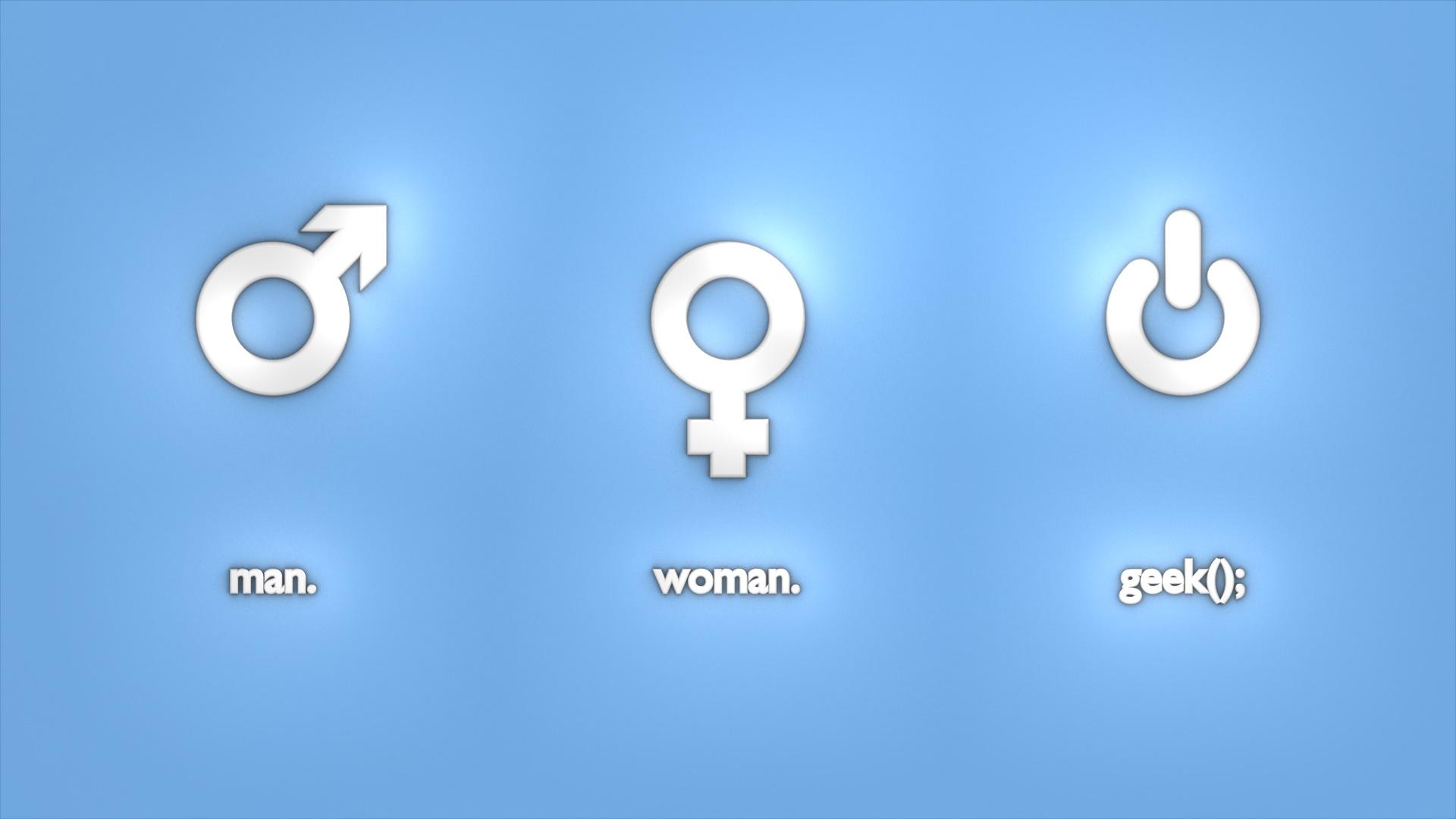 Man-woman-geek wallpaper