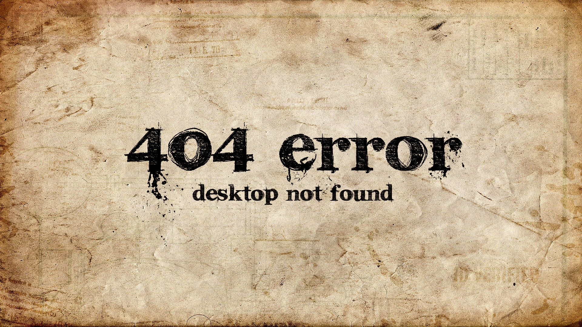 Funny 404 Error wallpaper