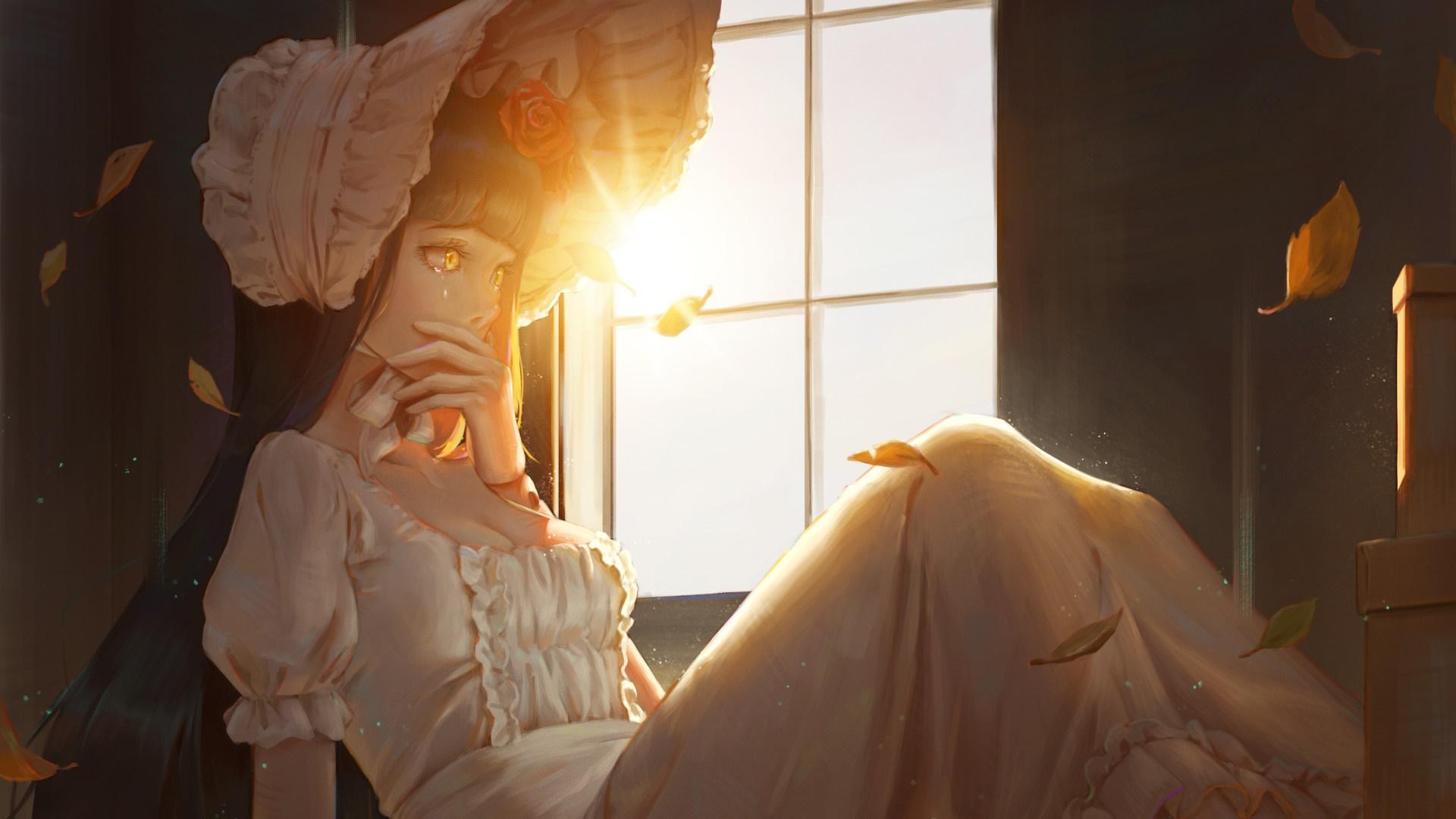 Sad Anime Girl Hd Wallpaper Backiee Free Ultra Hd Wallpaper Platform