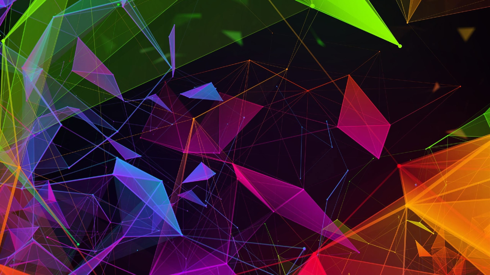 Colorful geometric art wallpaper