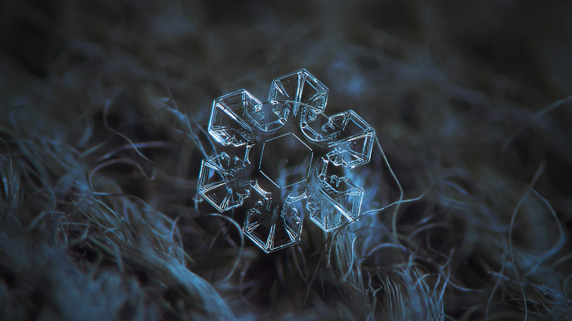 Crystal snowflake wallpaper