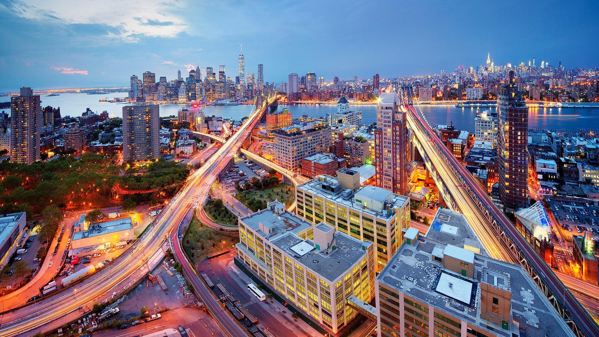 Brooklyn Bridge and Manhattan Bridge wallpaper