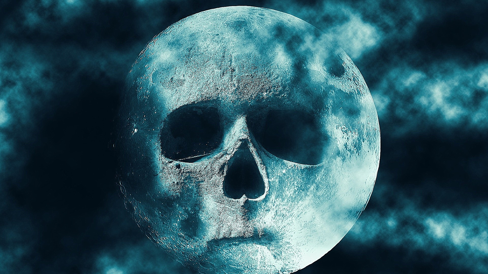Skull moon wallpaper