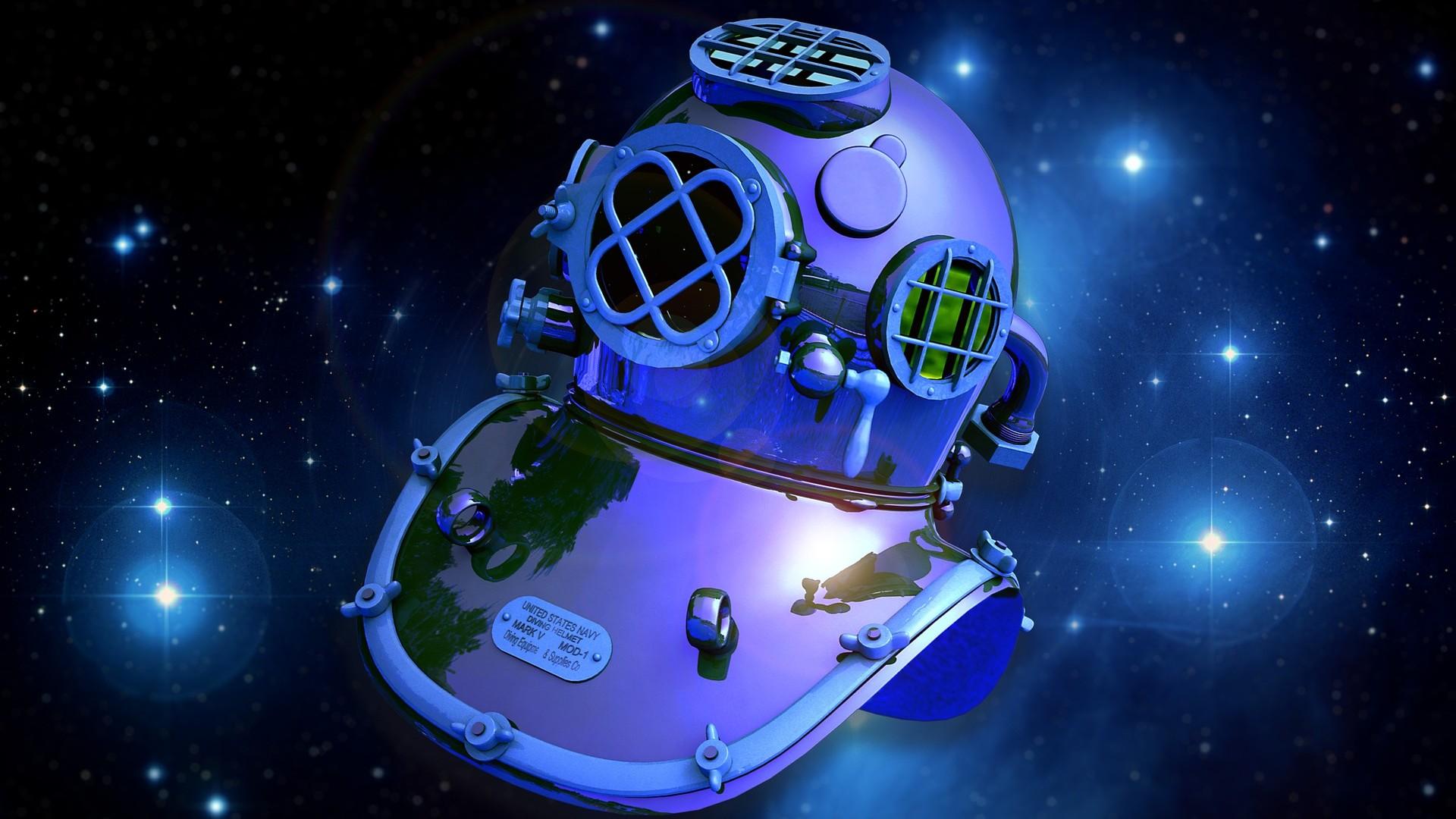 Astronaut helmet wallpaper