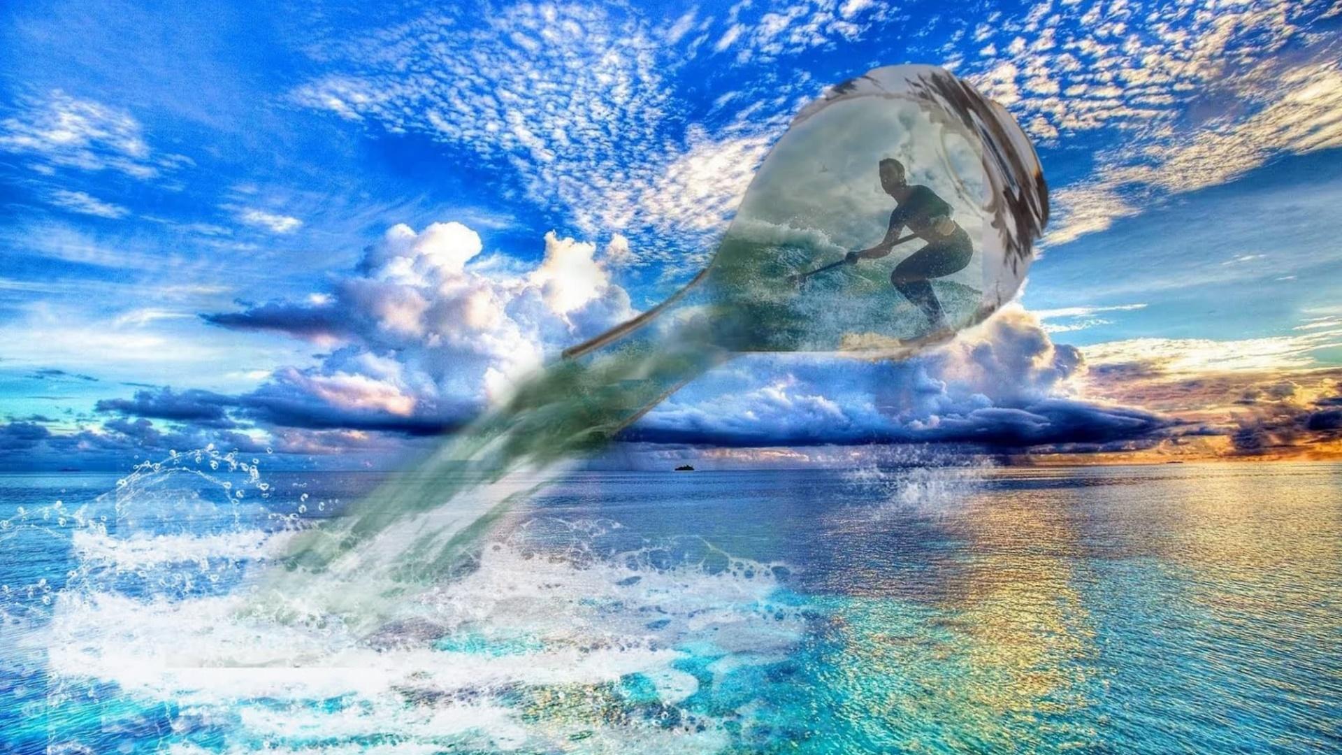Surfer selfie wallpaper