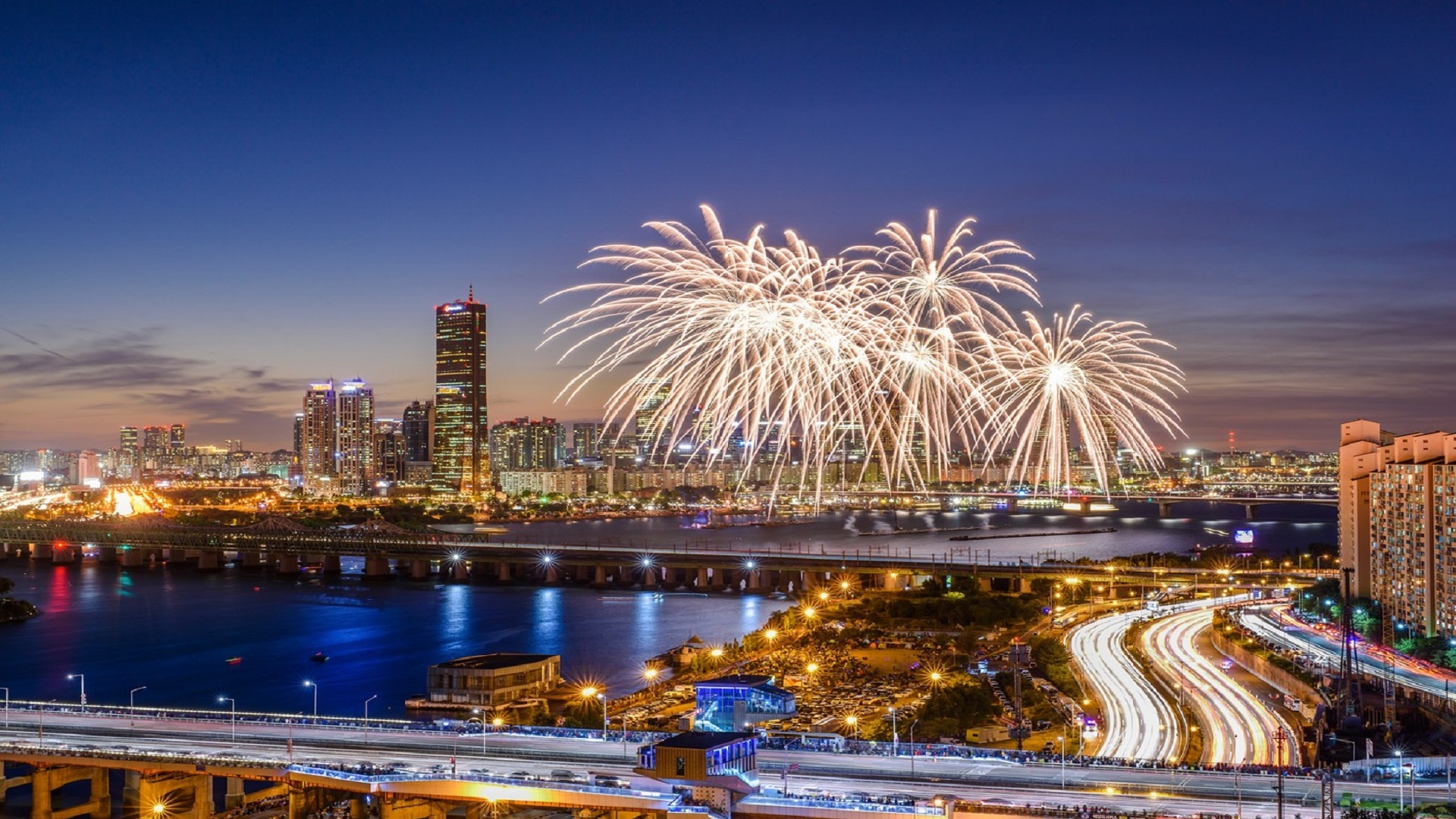 Seoul International Fireworks Festival wallpaper