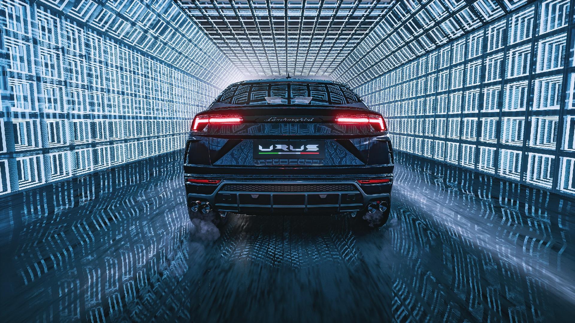 Lamborghini Urus Rear View Hd Wallpaper Backiee Free Ultra Hd