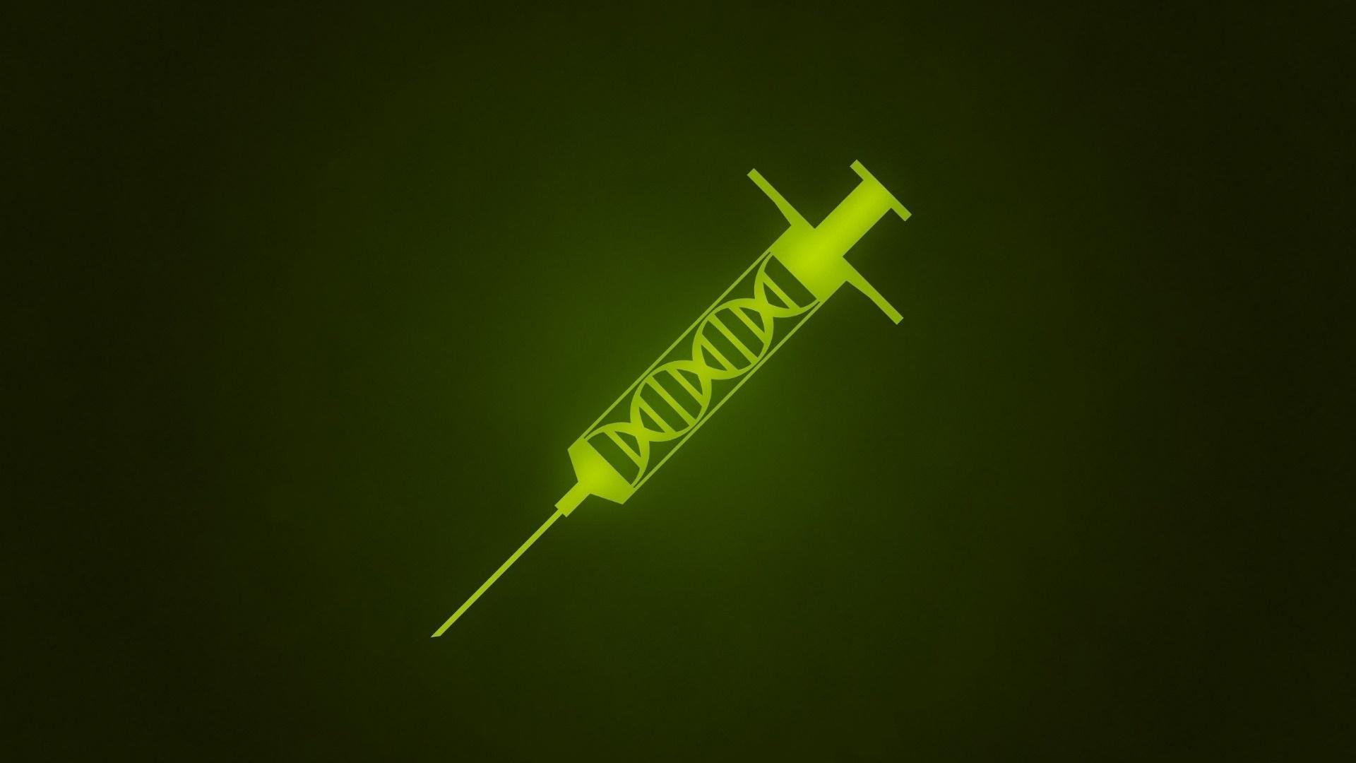 Green syringe wallpaper