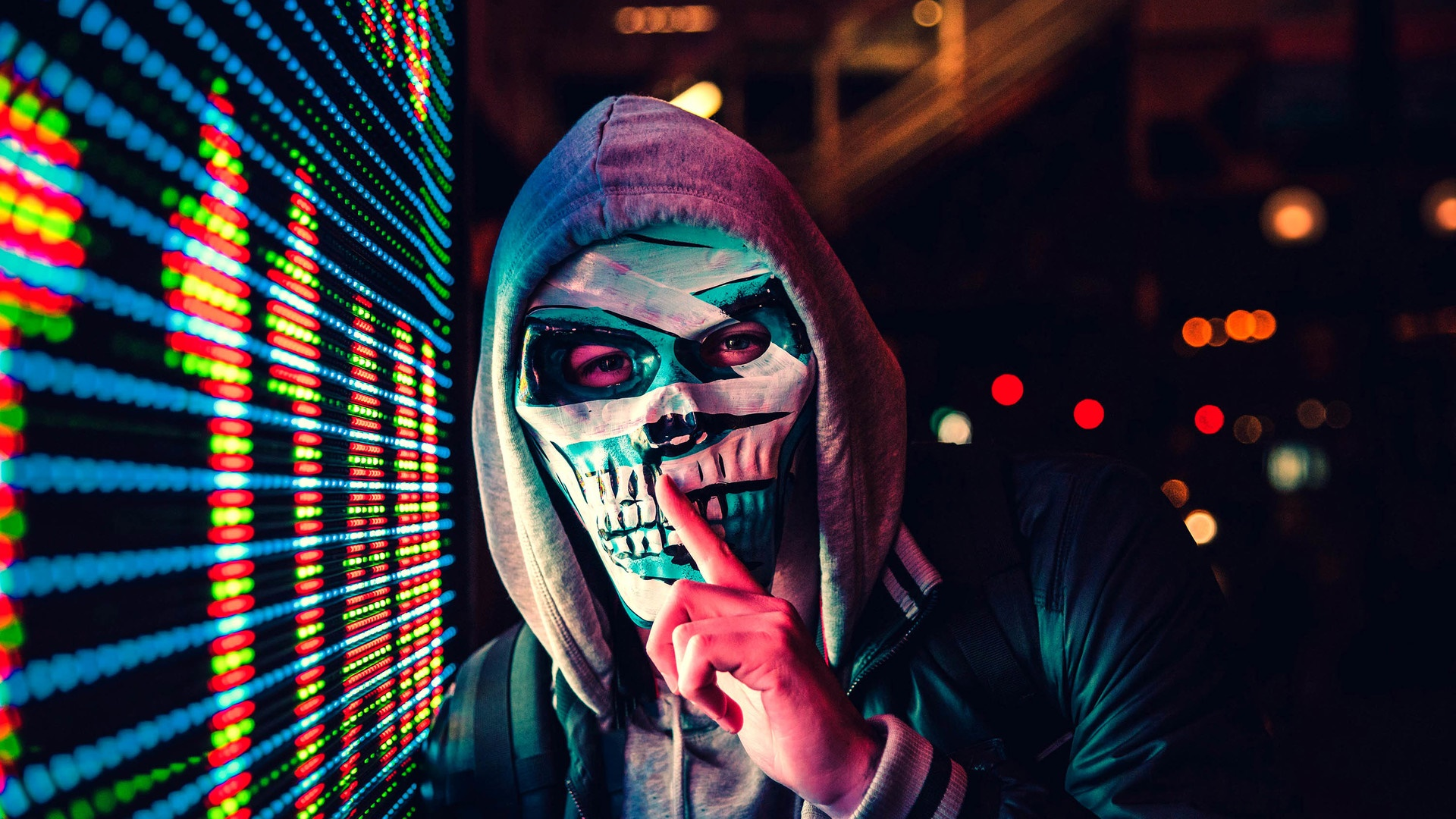 skullfull mask boy wallpaper - backiee