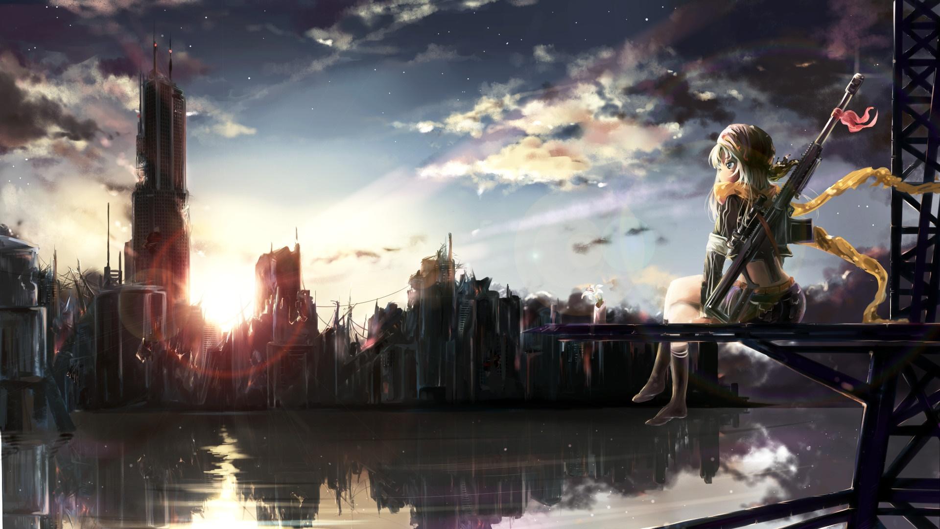 Sniper anime girl wallpaper