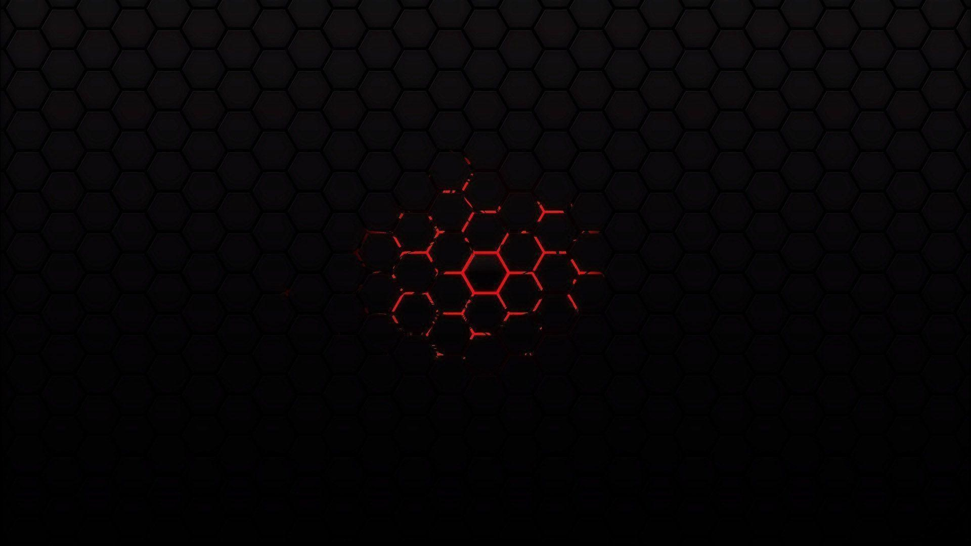 Black and red hexes wallpaper