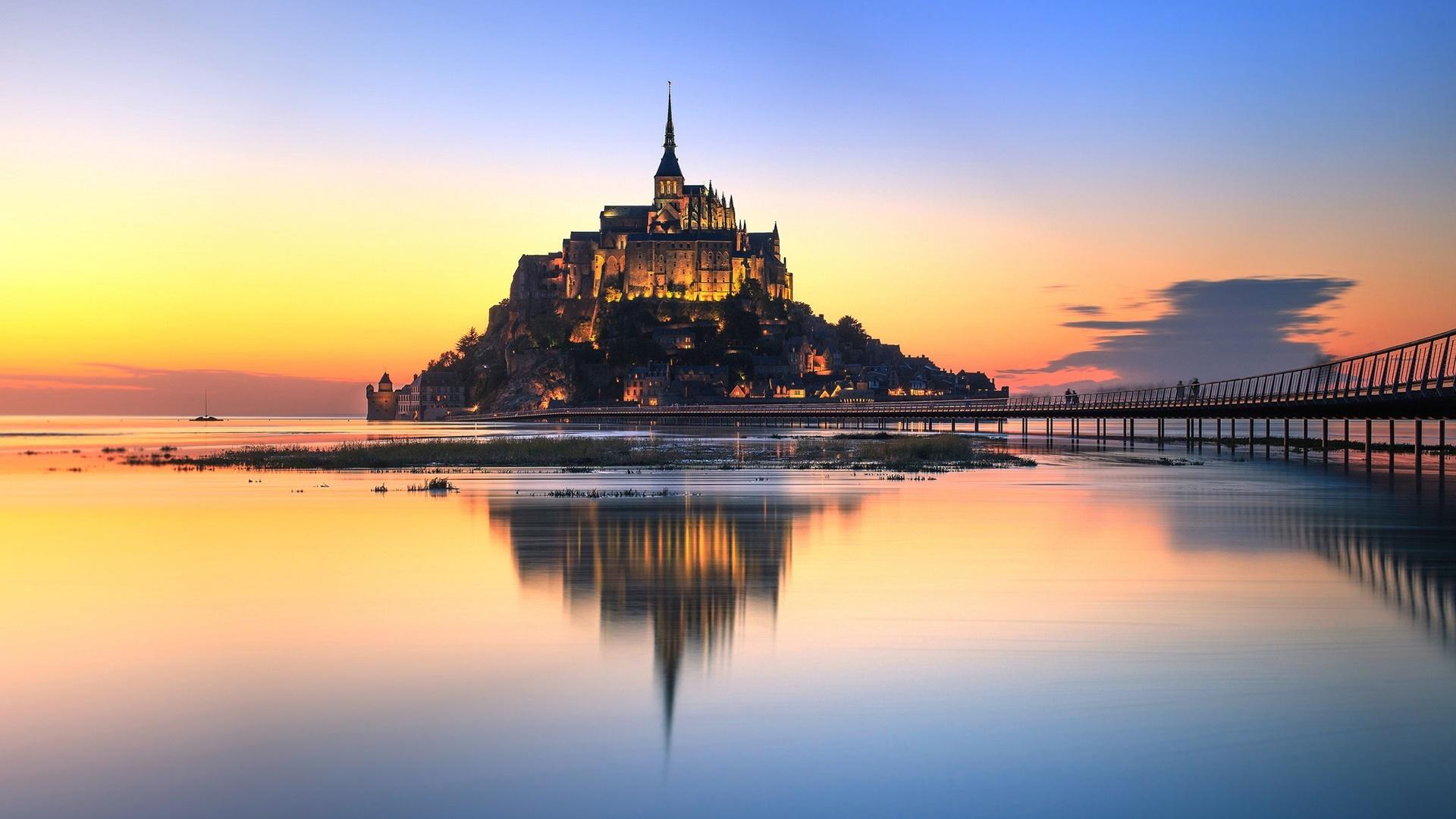 Mont Saint Michel Abbey wallpaper