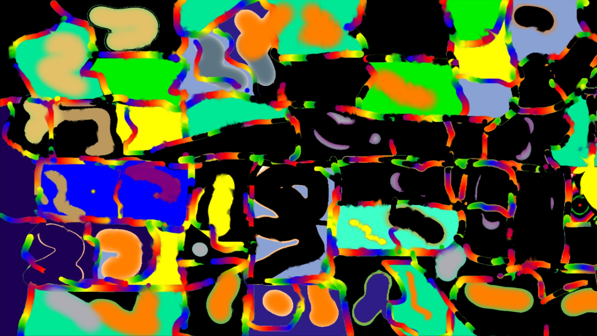 Abstraction Coloré Intence 2019 wallpaper