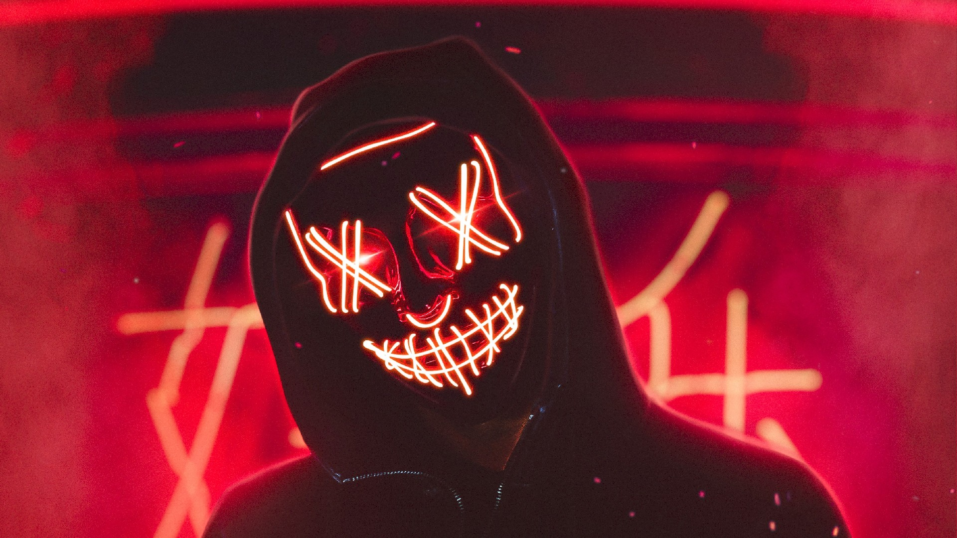 Red Neon Mask wallpaper