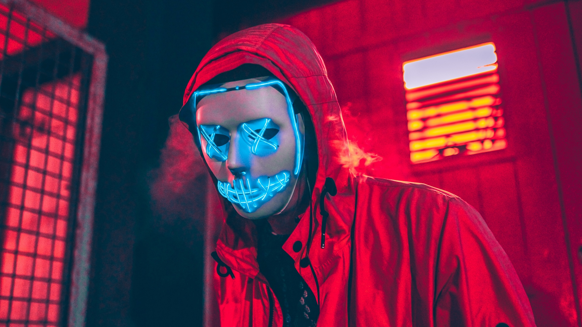 Neon Mask 2020 wallpaper