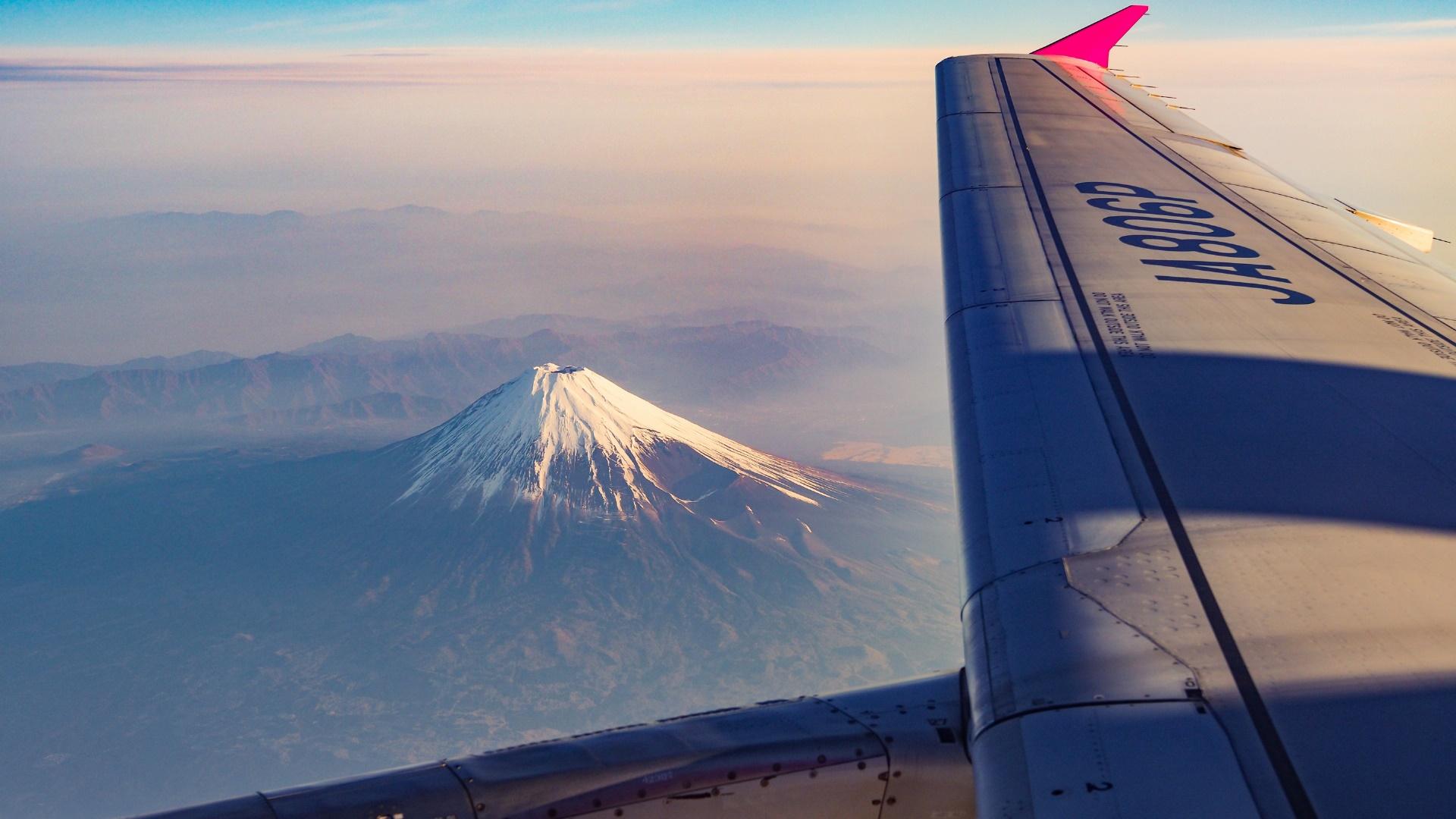 Mt. Fuji aerial view wallpaper