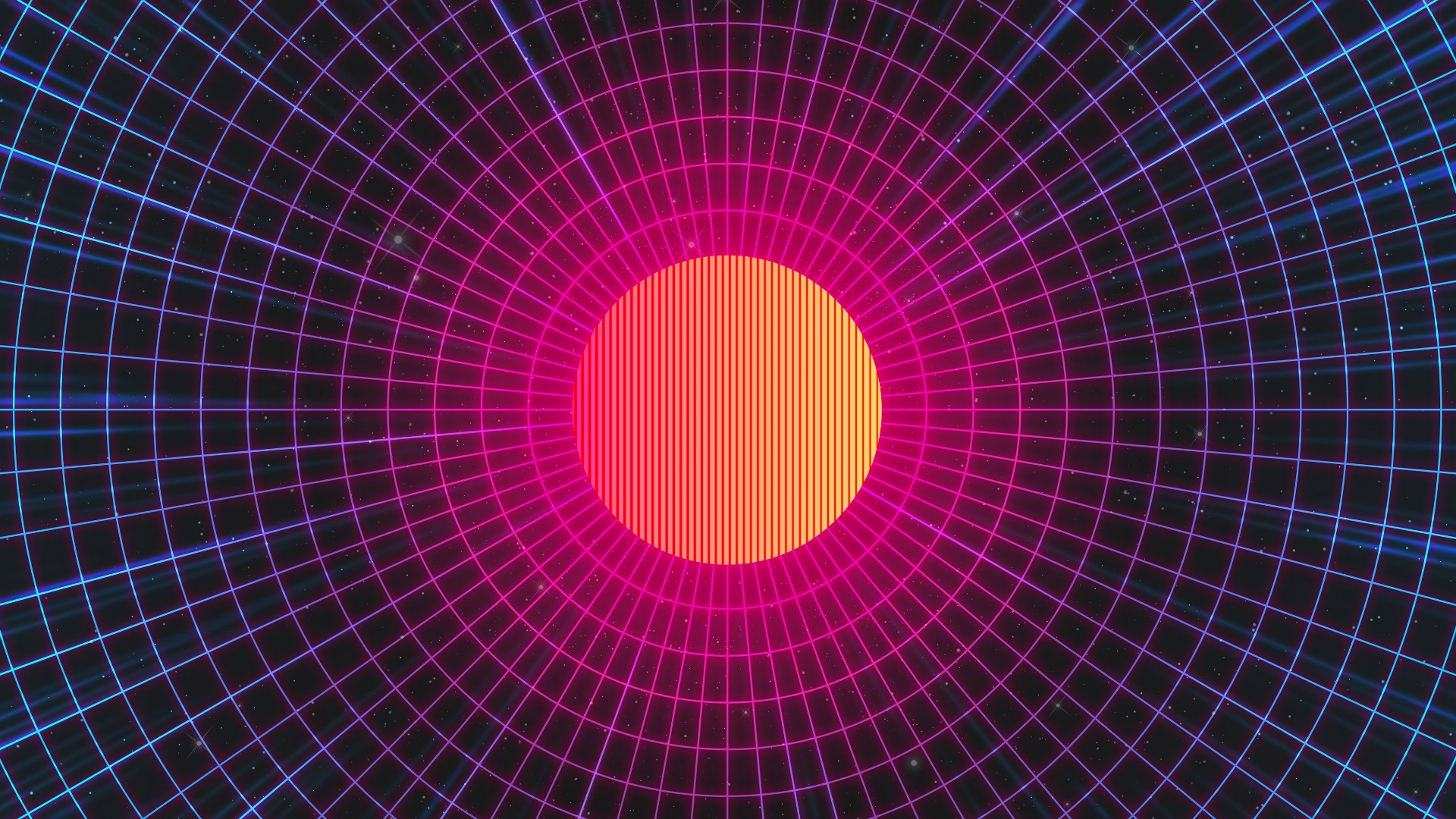 Synthwave sun wallpaper