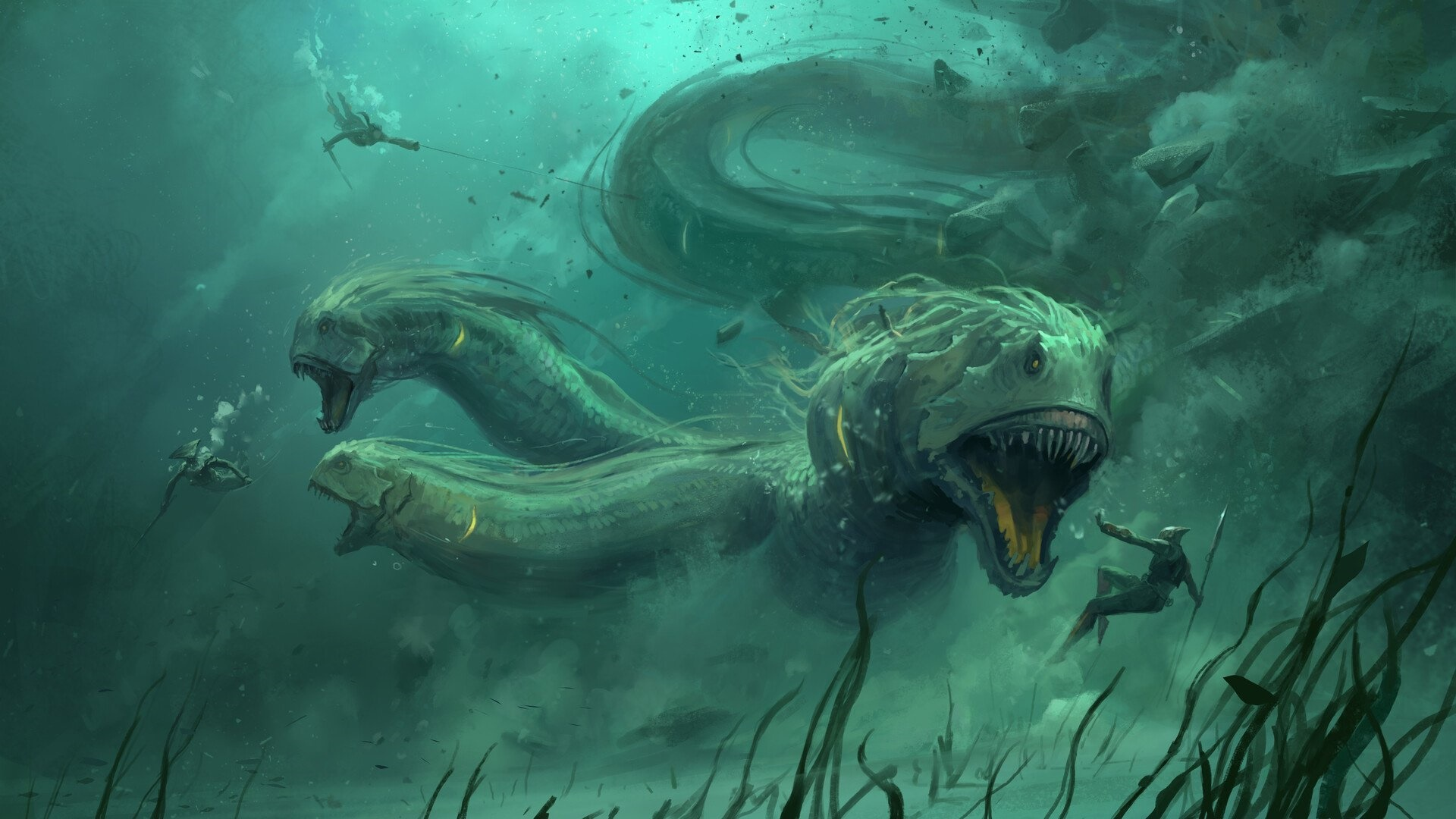 Underwater monster wallpaper