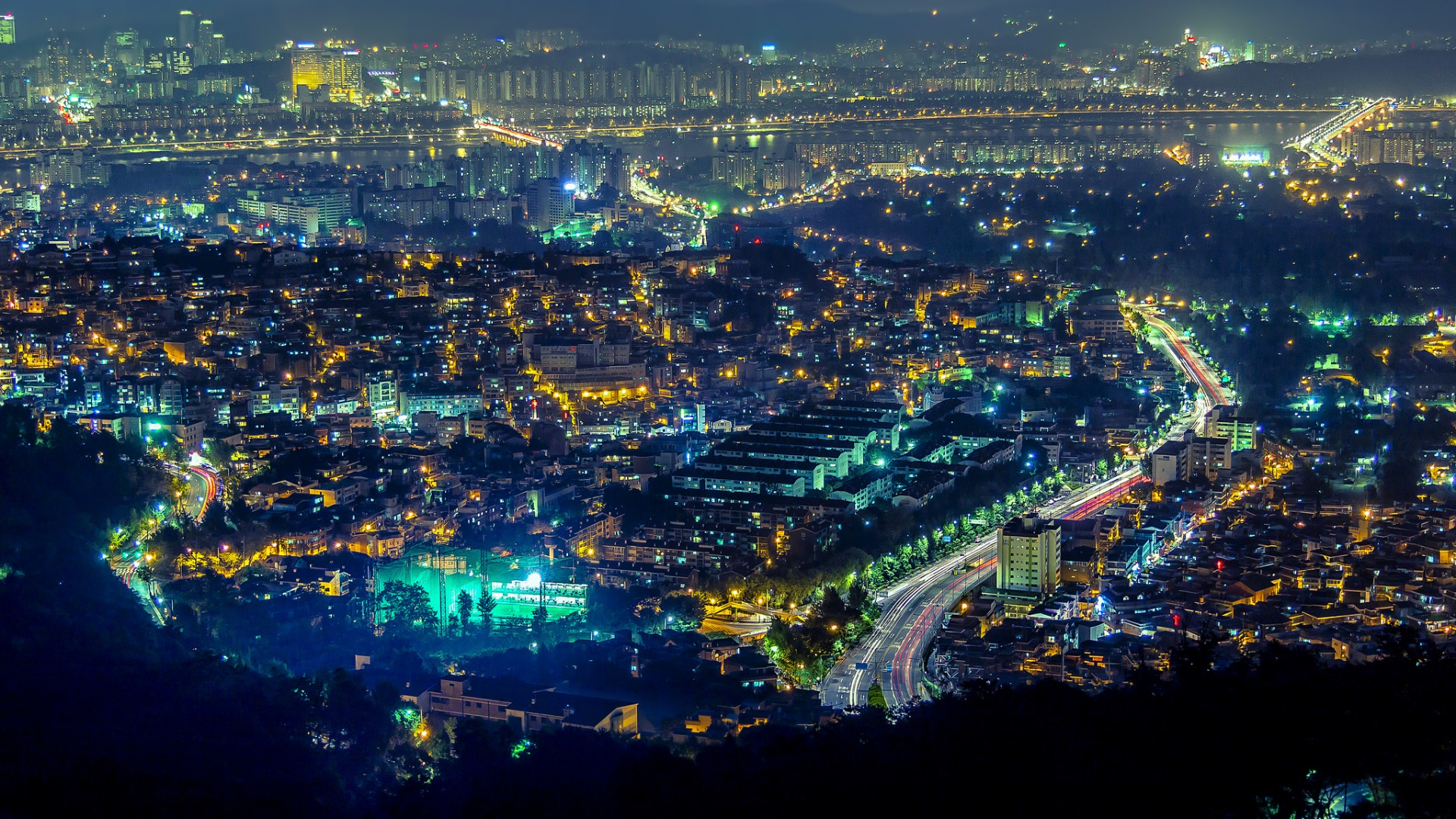Seoul by night wallpaper