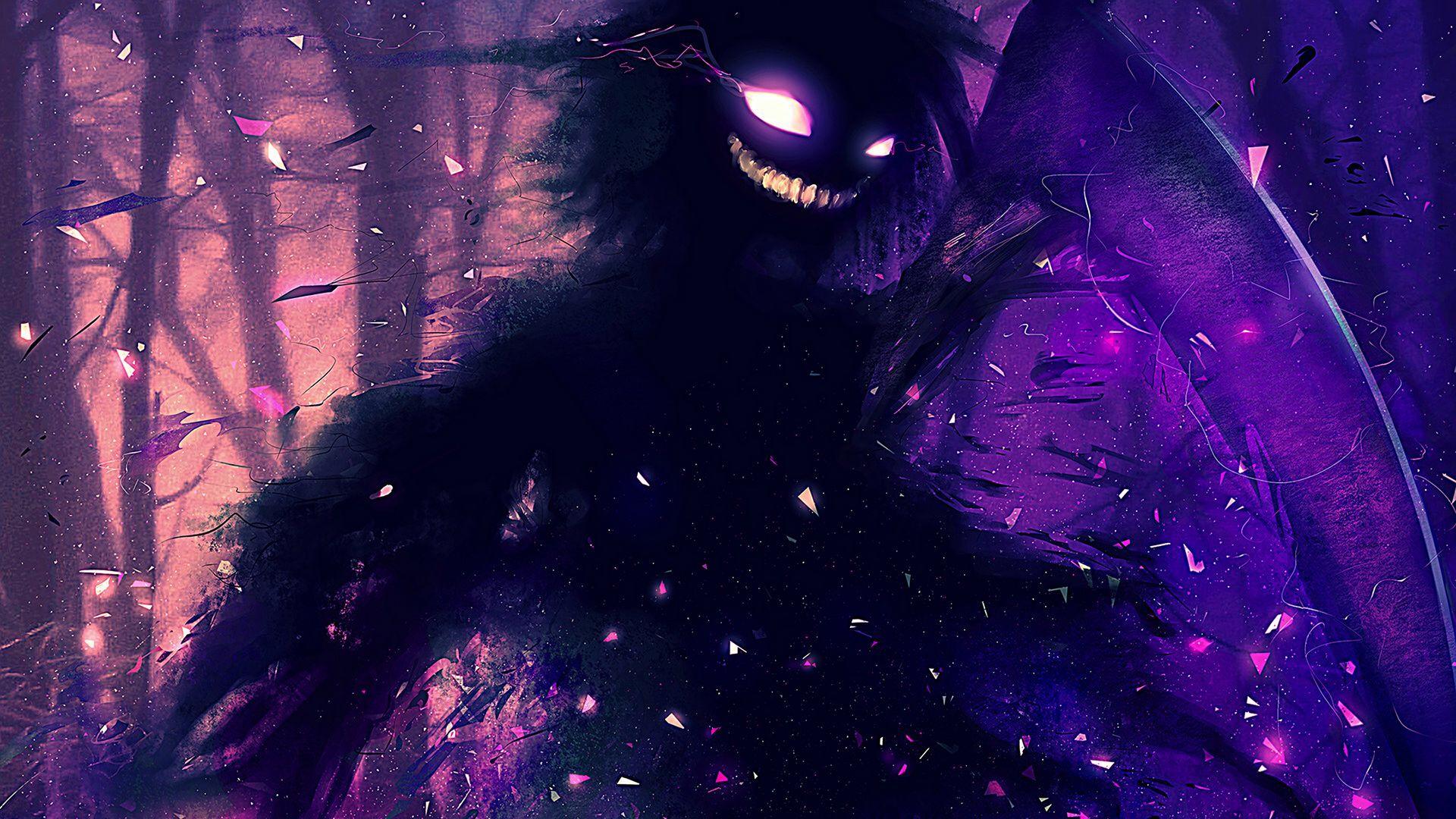 Evil smile monster wallpaper