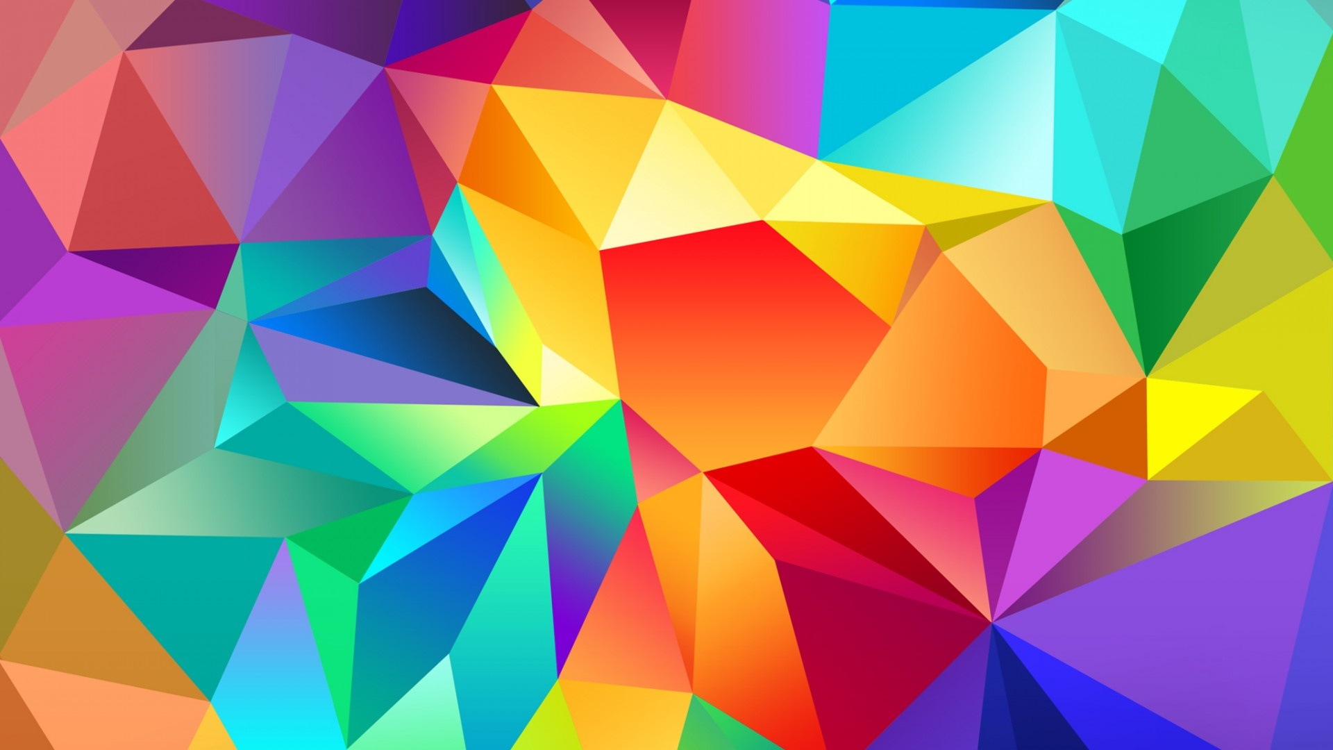 Colorful low-poly triangles wallpaper