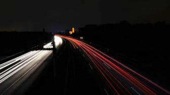 Highway by night wallpaper