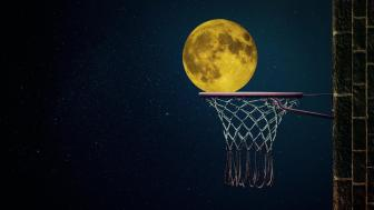 Basketball full moon wallpaper