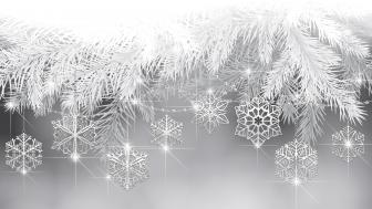 Monochrome Xmas snowflakes wallpaper