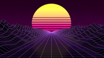 Synthwave sunset wallpaper