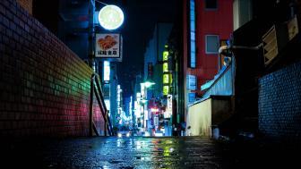 Alley of Tokyo wallpaper