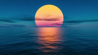 Sunset at the ocean wallpaper