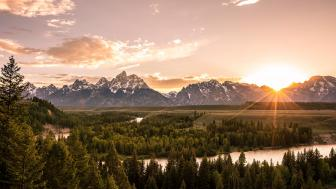 Cordillera Teton wallpaper