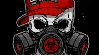Skull With Gas Mask wallpaper