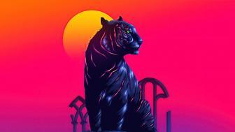Neon tiger wallpaper