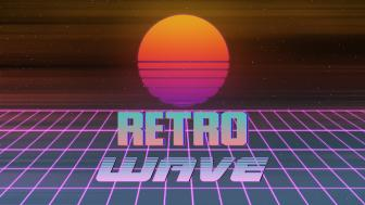 Retrowave and sun  wallpaper