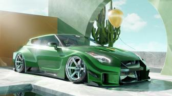 Nissan GTR Liberty Walk Shooting Brake wallpaper