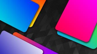 Neon material design wallpaper