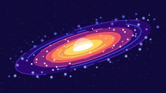 Minimal colorful ringed planet wallpaper