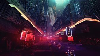 Cyberpunk Anime City wallpaper