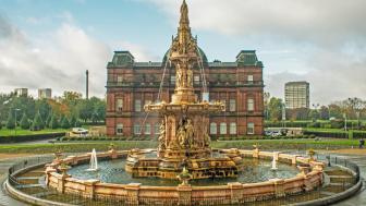 Glasgow Green, Doulton Fountain wallpaper
