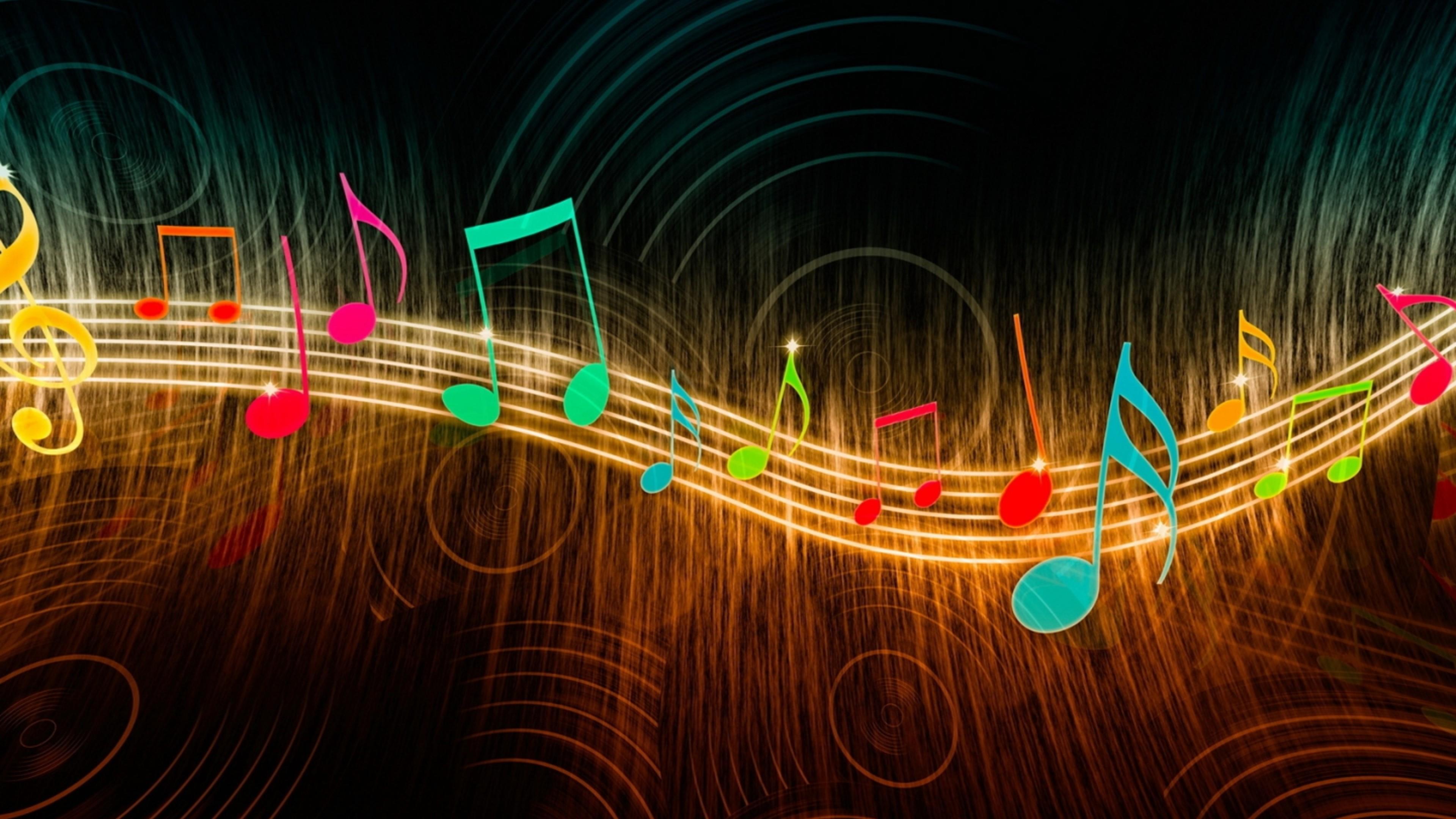 Colorful music note digital art wallpaper