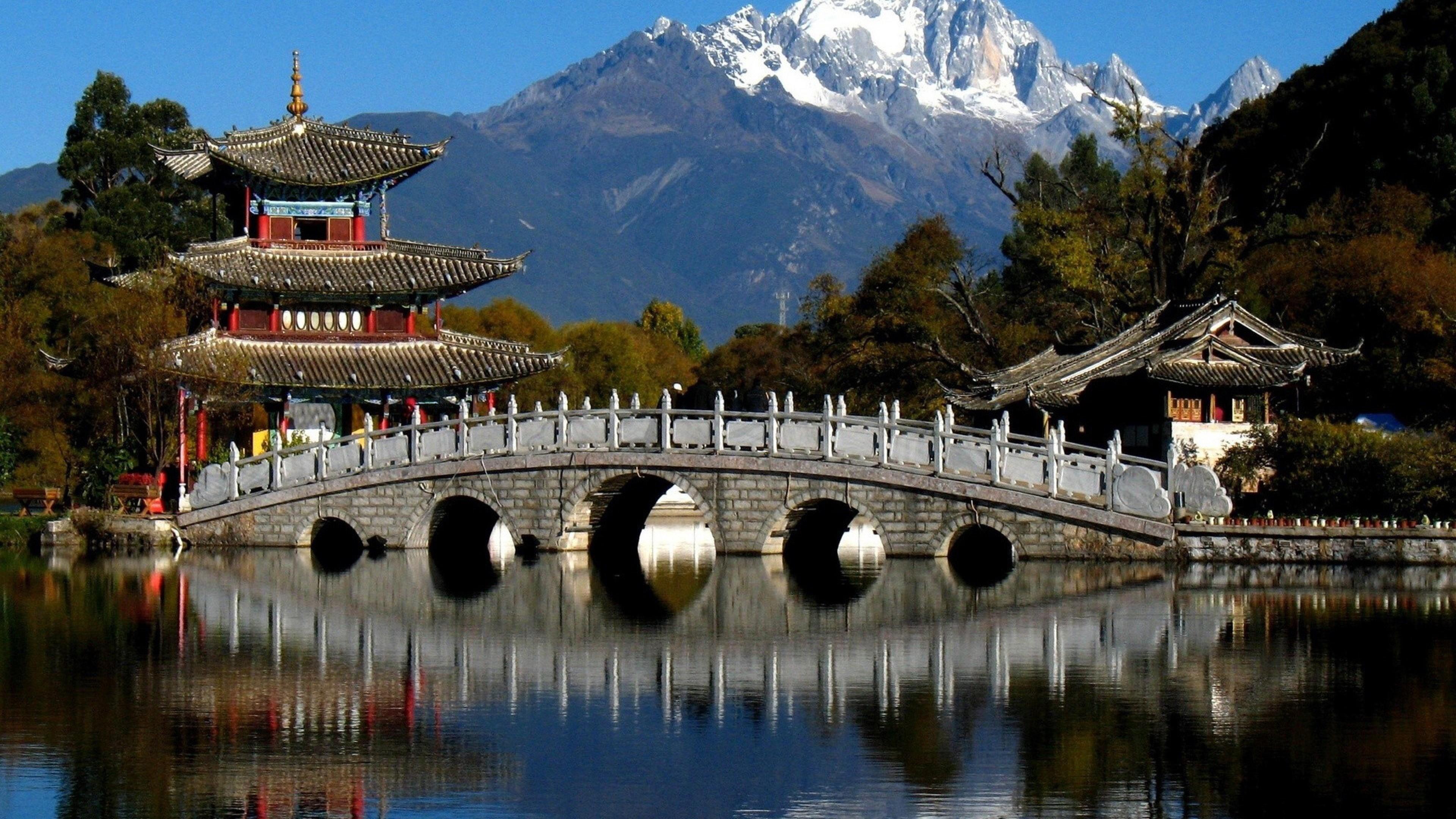 Black Dragon Pool Park, Lijiang, China wallpaper