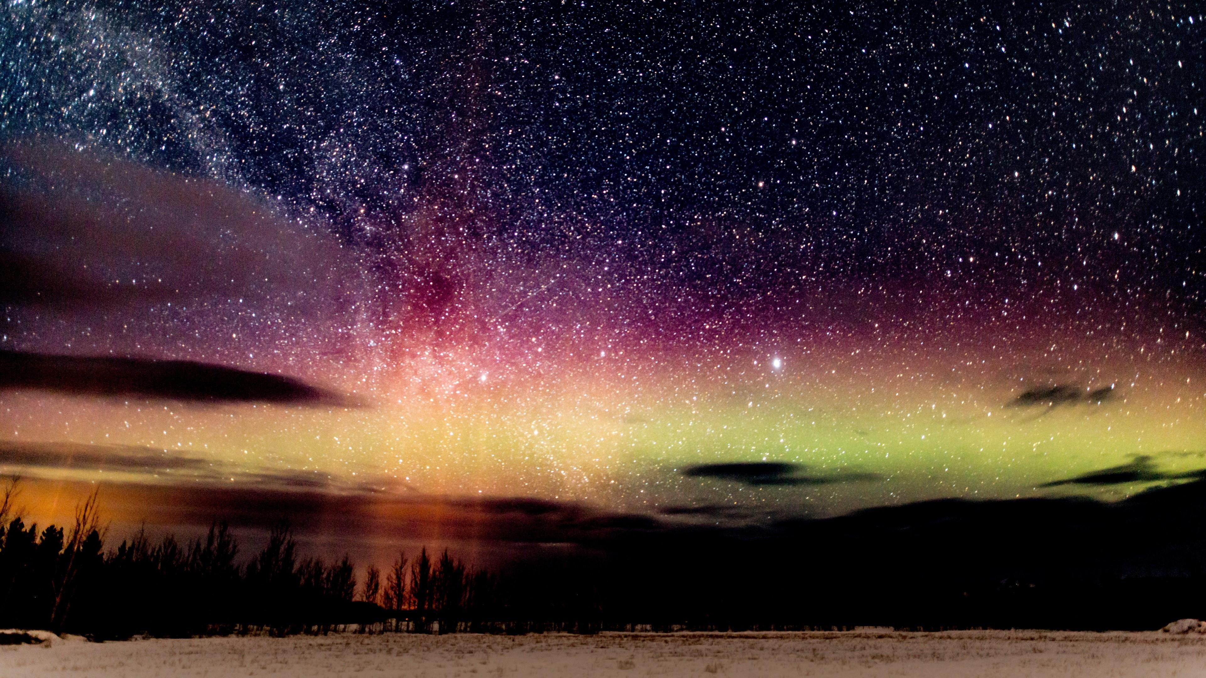Northern Lights with Milky Way ✨ wallpaper