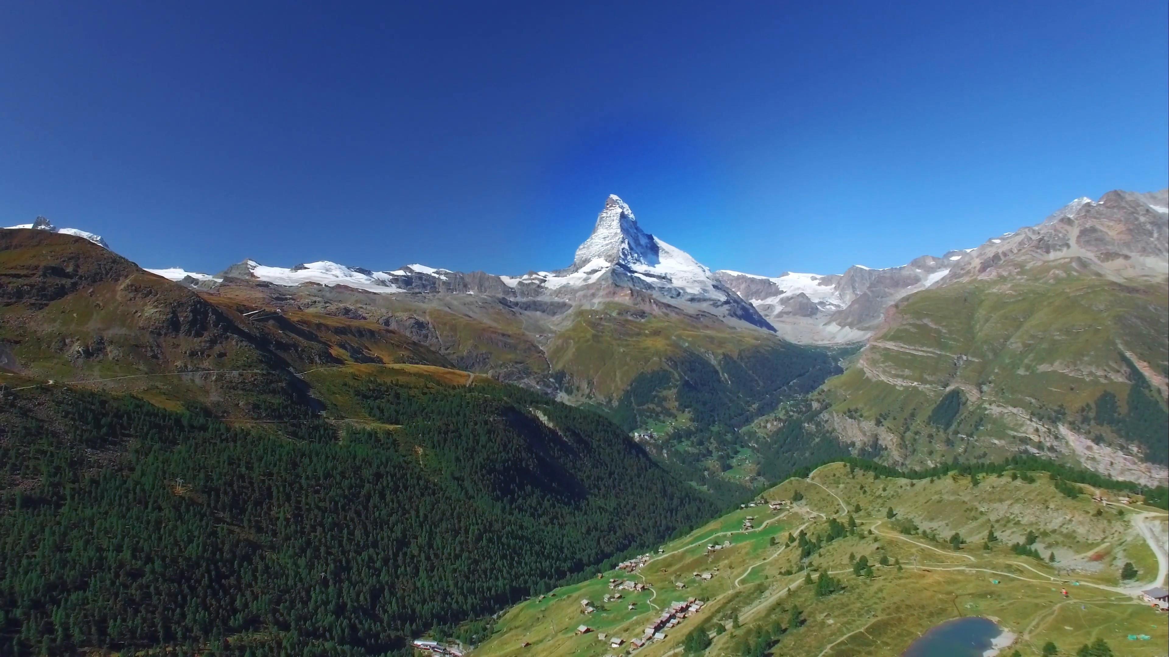 Matterhorn Mountain  - Switzerland's most famous landmark and symbol wallpaper
