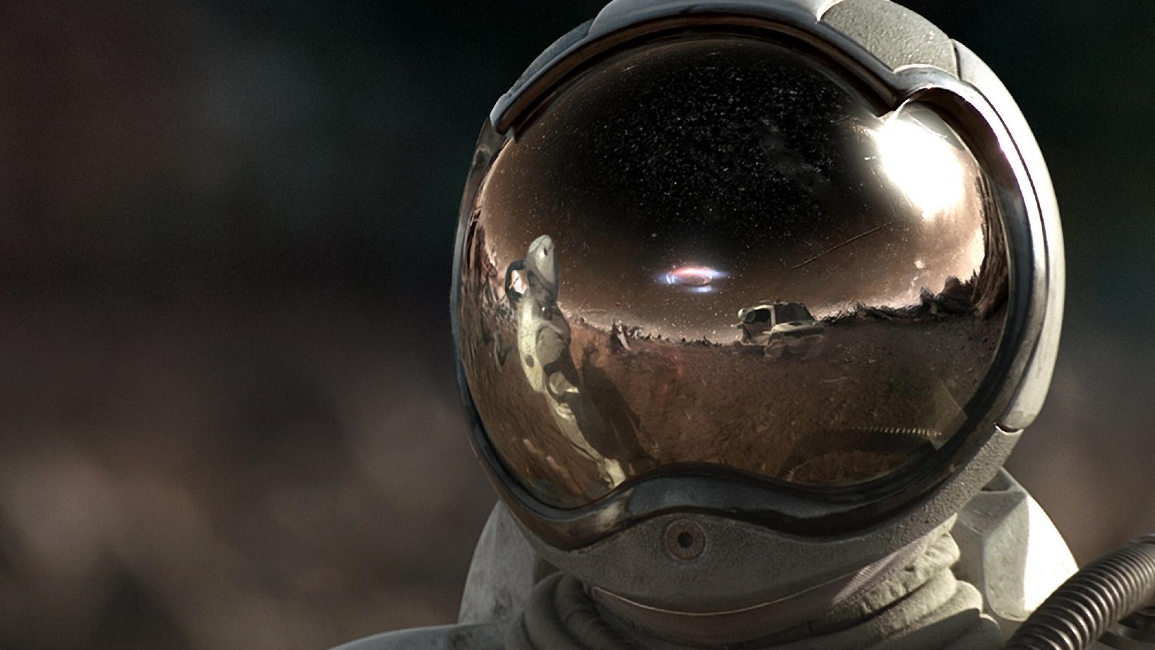 Astronaut in space helmet  wallpaper