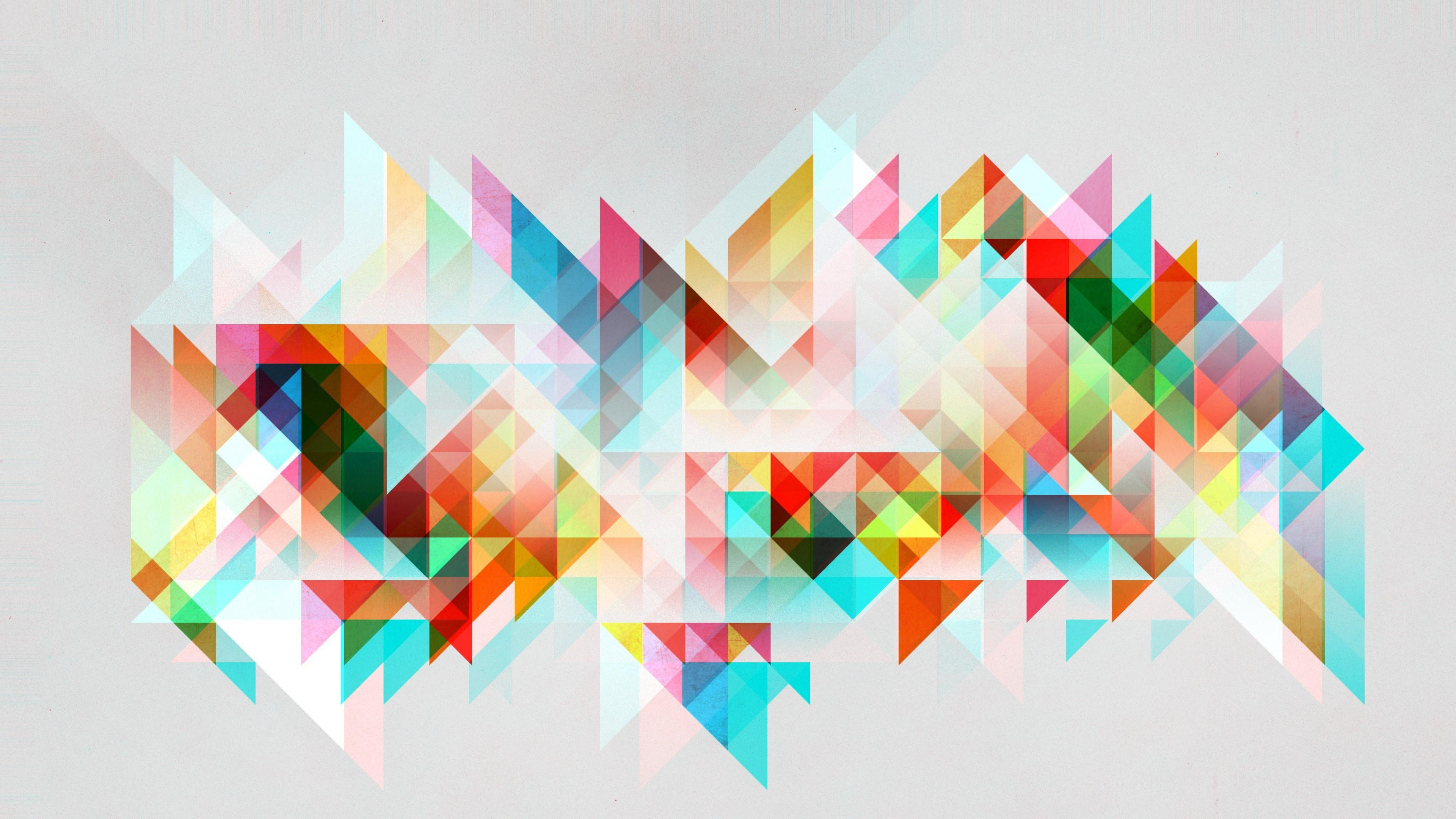 Colorful mosaic triangles abstraction wallpaper