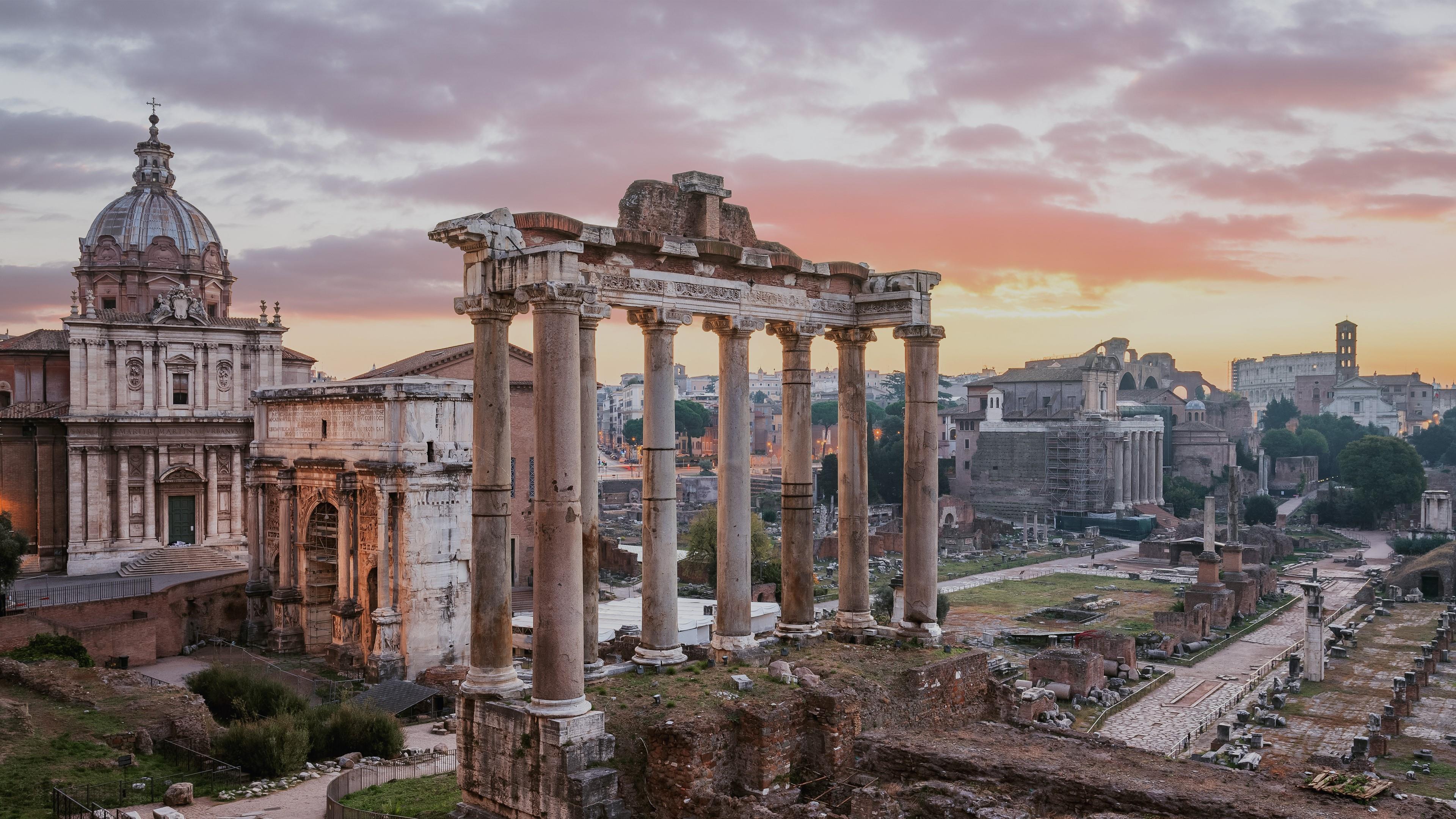 Roman Forum (Forum Romanum) in Rome, Italy wallpaper