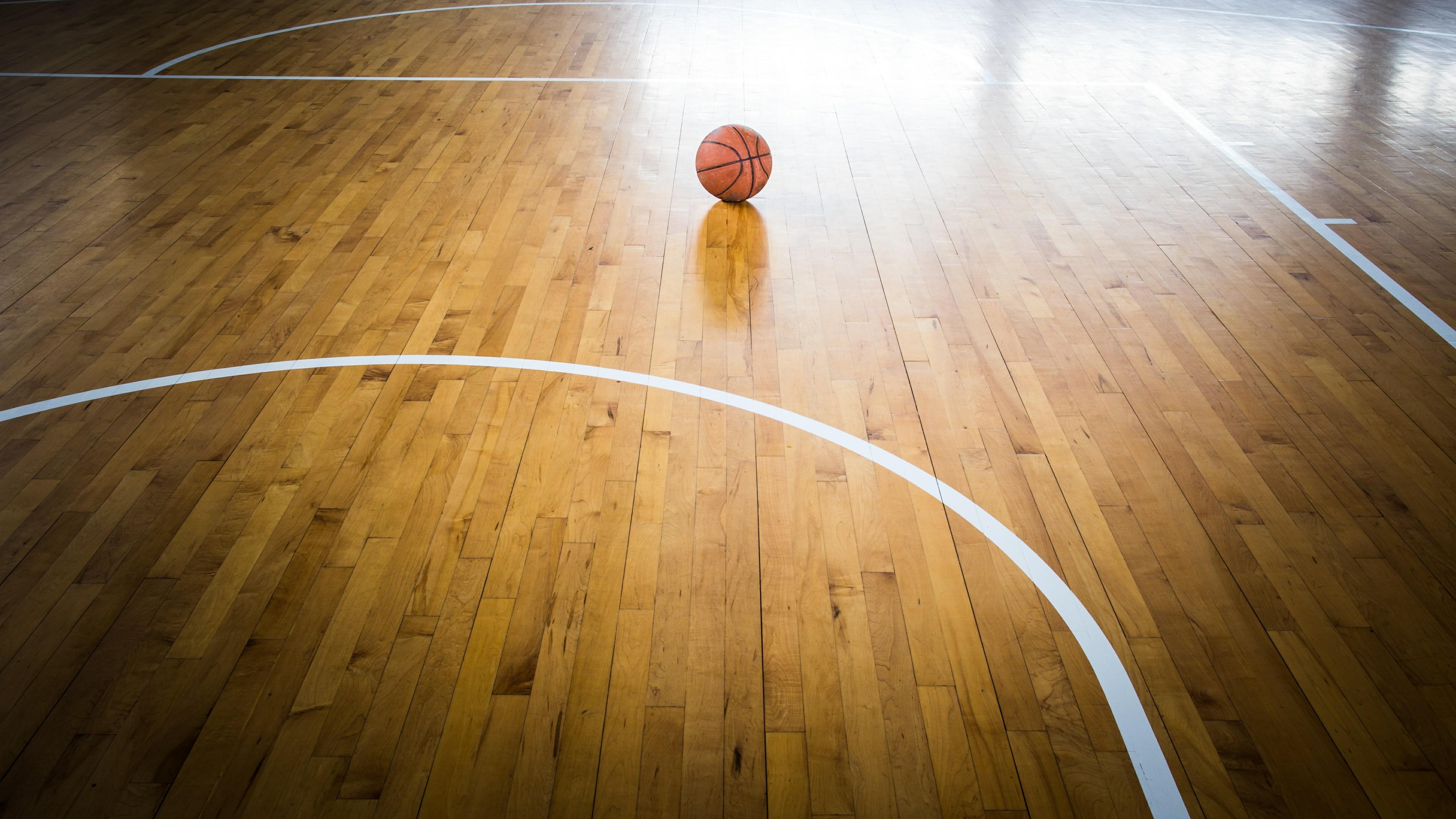 Basketball court floor wallpaper