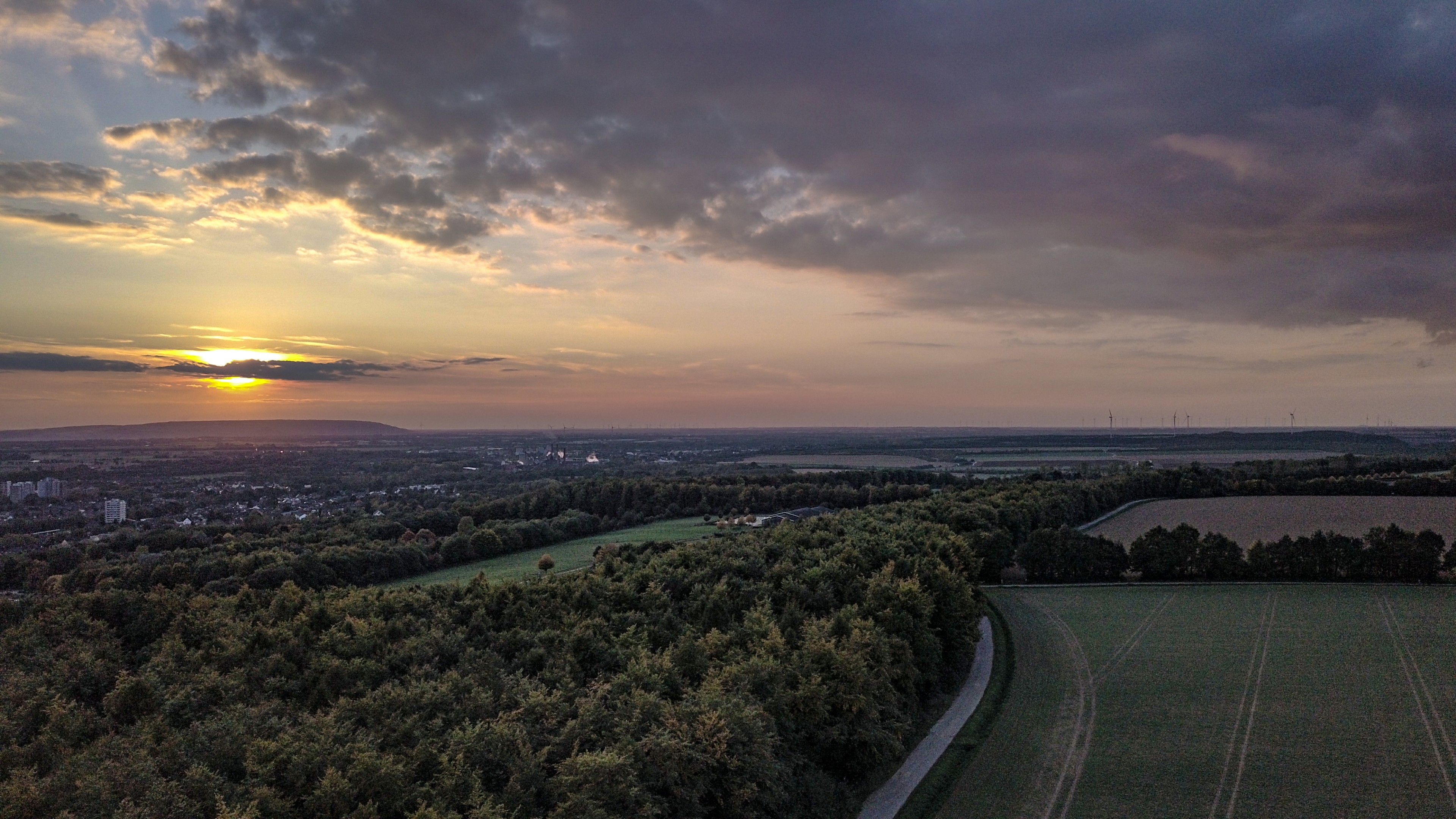 Sunset in Germany wallpaper